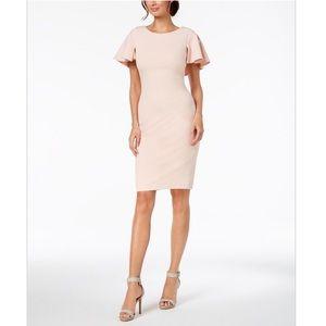 {Calvin Klein} Caped Sheath Dress